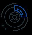 Brake pad icon